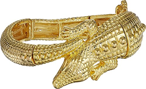 Kenneth Jay Lane Women's Gold Alligator Stretch Bracelet Gold One Size