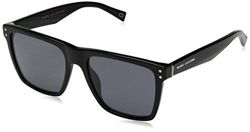Marc Jacobs Men's Polarized Rectangular Sunglasses, Black, 54 mm