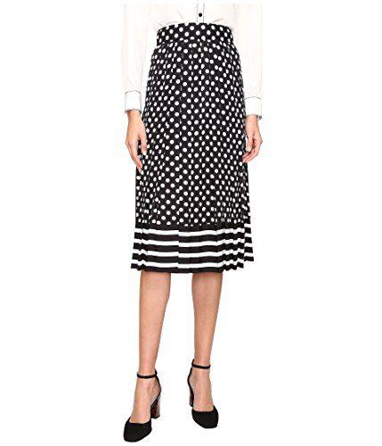 Kate Spade dot Stripe Pleated Skirt (4)