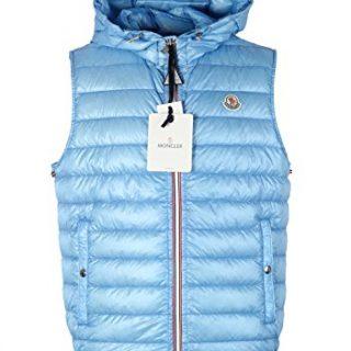 Moncler CL Blue Gien Hooded Shell Gilet Vest Size 3/M/50/40 U.S.