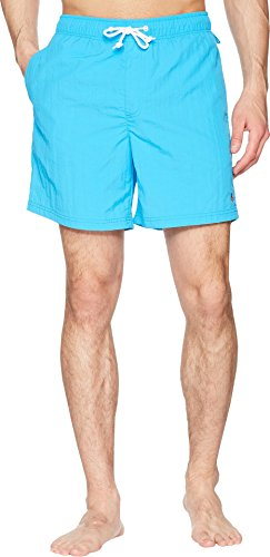 Original Penguin Men's Quick Dry Daddy Elastic Waist Swim Short, Dresden Blue, M