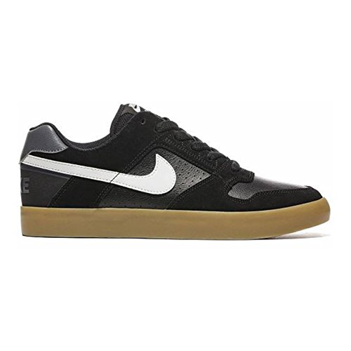 NIKE Mens SB Delta Force Vulc Black/White Gum Light Brown Skate Shoe 7 Men US