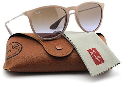 Ray-Ban Erica Sunglasses Dark Rubber Sand Frame / Brown Gradient Lens