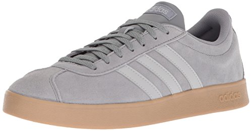 adidas Men's VL Court 2.0, Grey Three/Grey Two/Gum, 9.5 M US