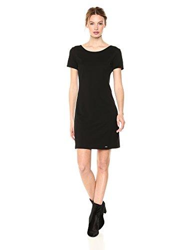 A|X Armani Exchange Women's Classic Slim Work Dress, Black, M