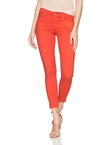 7 For All Mankind Women's The Ankle Skinny Jean with Released Hem, Poppy, 24