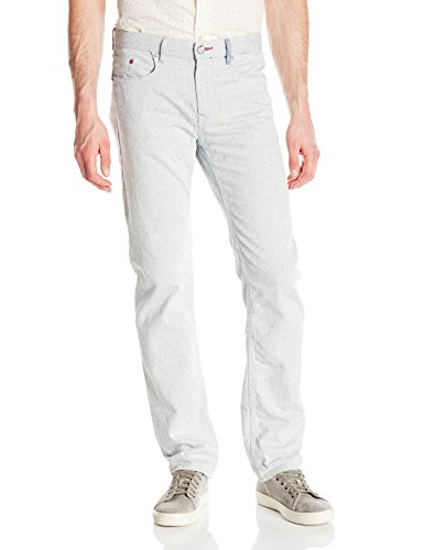 Robert Graham Men's Oatman Woven Denim Tailored-Fit Jean, White, 32x34