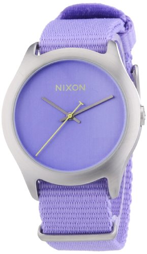 NIXON Women's Quartz Fabric/Canvas Casual Watch, Color:Pastel Purple