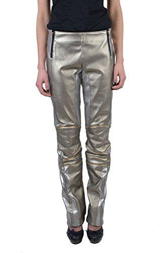 Roberto Cavalli Women'sMulti-Color Sparkle 100% Leather Pants US 6 IT 42