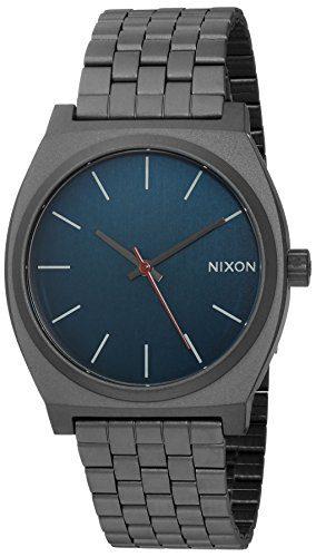 Nixon Men's 'Time Teller' Quartz Stainless Steel Watch, Color Grey