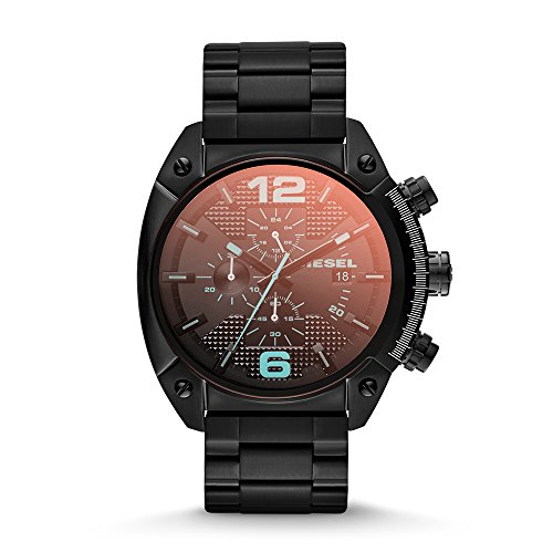 Diesel Men's Overflow Quartz Stainless Steel Chronograph Watch, Color Black (Model: DZ4316)