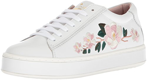 Kate Spade New York Women's Amber Sneaker, White Nappa, 10.5 Medium US