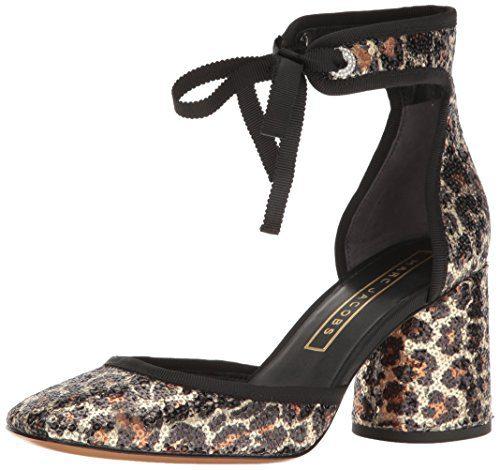 Marc Jacobs Women's Elle Ankle Strap Dress Pump, Gold Multi, 38.5 EU/8.5 M US