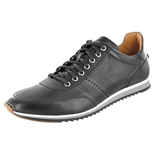 Magnanni Men's Pueblo Fashion Sneaker, Black, 10.5 M US
