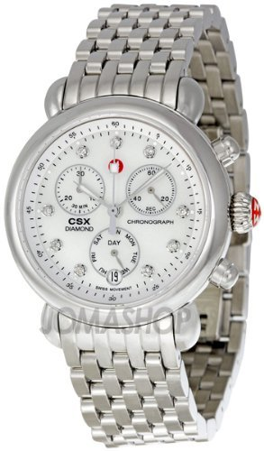 Michele CSX Mother of Pearl Diamond Dial Chronograph Ladies Watch