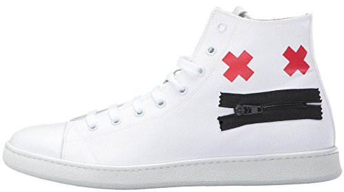 Marc Jacobs Men's Canvas Zip Face Fashion Sneaker (41 EU/8 US/7 UK)