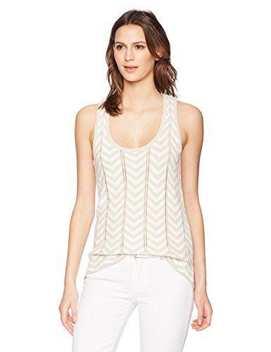 Trina Turk Women's Manzanita Sweater Top, Sand/White Wash, Medium