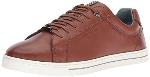 Ted Baker Men's Thawne Sneaker, Tan Leather, 13 Medium US