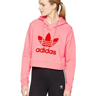 adidas Originals Women's Colorado Hooded Sweatshirt, Chalk Pink, XS