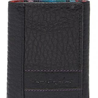 Robert Graham Men's Wallace Leather RFID Trifold Wallet, One size, Black