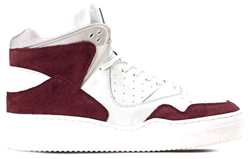 Article Number Nº Mens High Top Sneakers Shoes Maroon White (11)