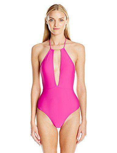 Ted Baker Women's Pikaa Halter One Piece Swimsuit, Fuchsia, 5