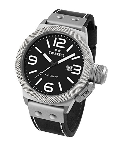TW Steel Men's CS6 Analog Display Black Watch