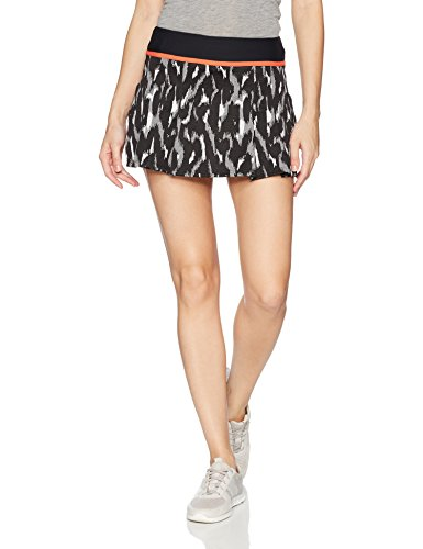 Trina Turk Recreation Women's Leopard Luxe Jacquard Tennis Skirt, Black, M