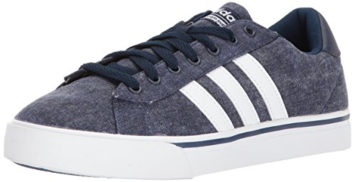 adidas Men's CF Super Daily Sneaker, Collegiate Navy/White/Collegiate Navy, 12 M US