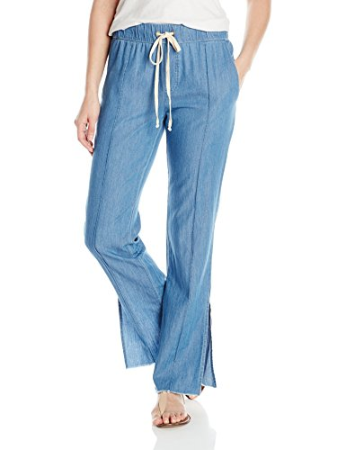 Enza Costa Women's Pintuck Slim Trouser, Rinse, M