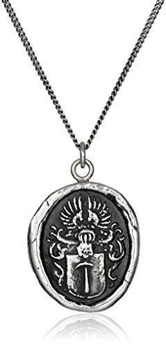 "Pyrrha Talisman Men's Sterling Silver Defender Pendant Necklace, 22"""