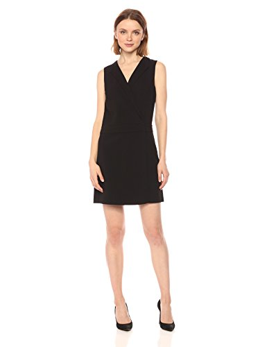 A|X Armani Exchange Women's Tuxedo Dress, Black, 4