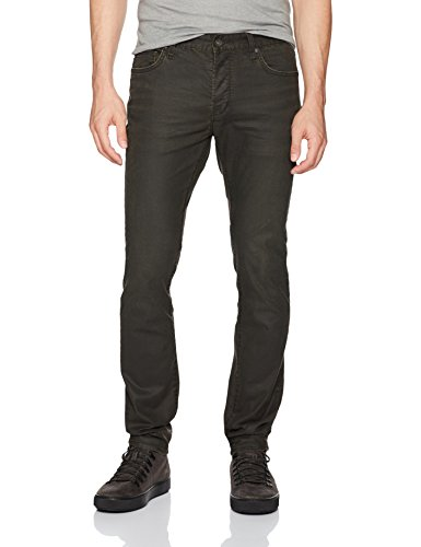 John Varvatos Men's Wight Jean, Button Fly Bide, Peat, 28