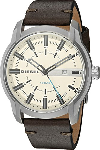 Diesel Men's Armbar Stainless-Steel and Olive Leather Watch