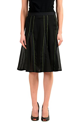 Versace Versus Black Women's Straight Skirt US XS IT 38