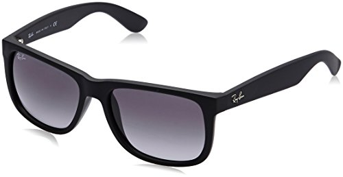 Ray-Ban JUSTIN - RUBBER BLACK Frame GREY GRADIENT Lenses 51mm Non-Polarized
