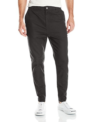 Zanerobe Men's Sharpshot Chino Pant with Tapered Cuff, Black, 34