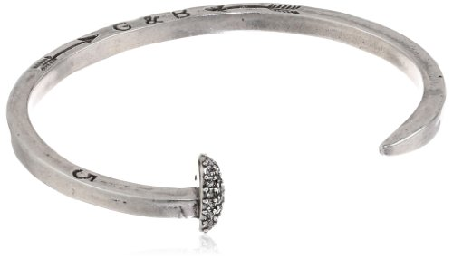 Giles & Brother Silver-Tone Skinny Railroad Spike Cuff Bracelet, 4.5""