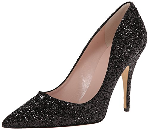 Kate Spade New York Women's Licorice Dress Pump, Black Glitter, 8.5 M US