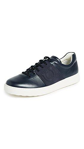 Salvatore Ferragamo Men's Cult Logo Sneakers, Blue Marine, 10.5 D(M) US