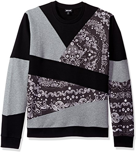 Just Cavalli Men's Daywear Sweater Jersey, Black, Small