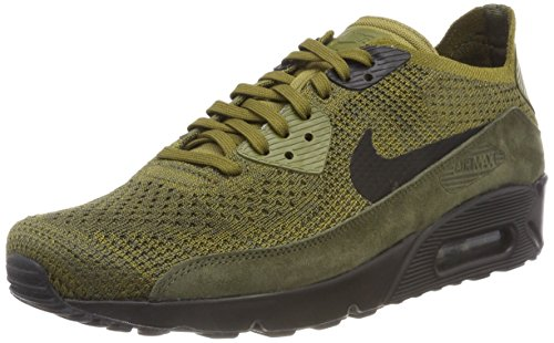 NIKE Men's Air Max 90 Ultra 2.0 Flyknit Olive (Size: 11)