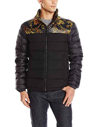 Versace Jeans Men's Jeans Puffer Jacket, Black, 54 (X-Large)