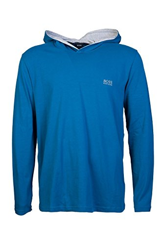 Hugo Boss Mens Overhead Hoody Sweatshirt Mix & Match LS-Shirt H Size L Blue