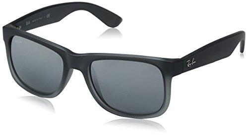 Rayban Sunglasses Justin Rubber Grey Silver Mirror Gradient 51mm