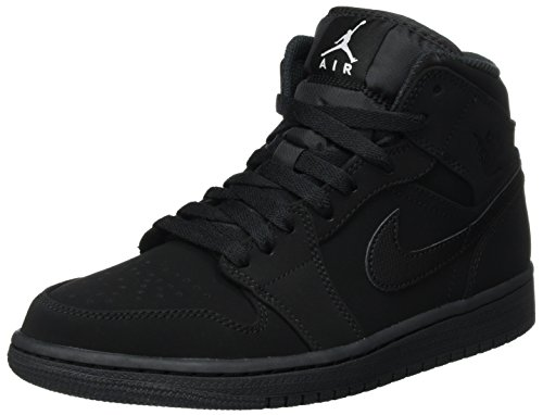 Nike Men's Air Jordan 1 Retro Mid Basketball Shoe Black/White-Black (8.5 D(M))