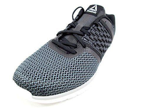 Reebok Men's Print Prime Runner Sneaker, Black/Gravel/Tin Grey/White, 8 M US