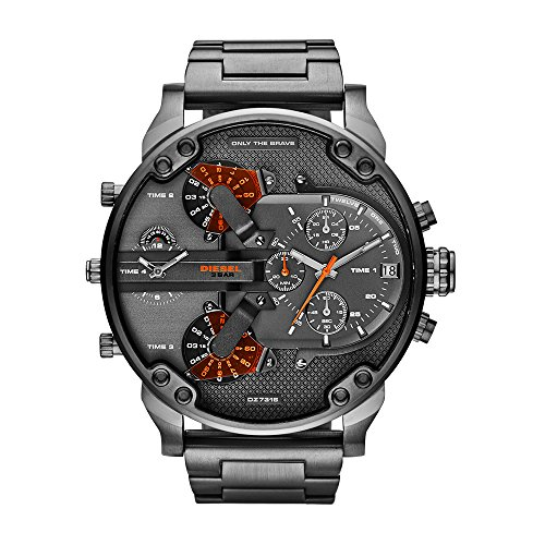 Diesel Men's Mr Daddy 2.0 Quartz Stainless Steel Chronograph Watch, Color Grey (Model: DZ7315)