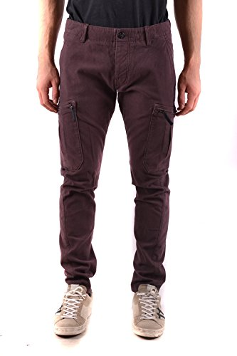 Stone Island Men's Burgundy Cotton Pants