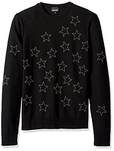 Just Cavalli Men's Star Sweatshirt, Black, M